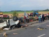 Samsun'da trafik kazası: 1 ölü, 9 yaralı