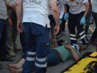 Bafra'da Motosiklet kazası 1 yaralı