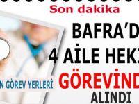 Bafra'da aile hekimleri açığa alındı