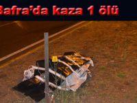 Bafra'da kaza 1 ölü