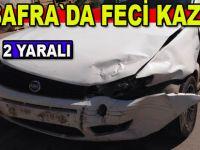 Bafra`da trafik kazası : 2 yaralı