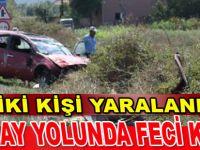 Bafra`da feci kaza: 2 yaralı