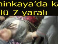 Şahinkaya'da korkunç kaza 1 ölü 7 yaralı