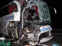 Samsun`da feci kaza 1 ölü 39 yaralı