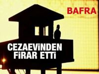 Bafra'da mahkum firar etti