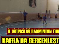 İl birinciliği badminton turnuvası Bafra`da yapıldı