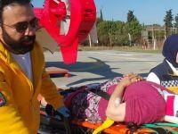 Asiye ninenin yardımına Ambulans Helikopter yetişti