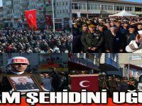 Fırat Kalkanı Harekatı şehidi Samsun'da son yolculuğuna uğurlandı