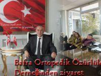 Bafra Ortopedik Özürlüler Derneğinden ziyaret
