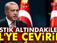 Cumhurbaşkanı Erdoğan: Yastık altındakileri TL'ye çevirin