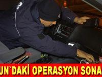 """Samsun'daki """"Huzur Türkiye"""" asayiş uygulaması sonucu"""