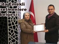 Alaçam'da emekli öğretmenlere hizmet belgesi verildi