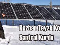 Kezban Teyze Köyüne Santral Kurdu