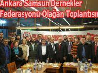 Ankara Samsun Dernekler Federasyonu Olağan Toplantısını yaptı