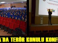 Öğrencilere terör konferansı