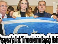 Ganire Paşayeva'ya Irak Türkmenlerinin Bayrağı Hediye Edildi