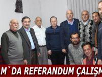 Alaçam`da referandum çalışmaları devam ediyor