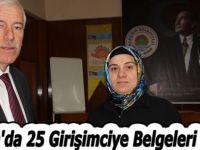 Alaçam'da 25 Girişimciye Belgeleri Verildi