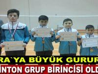 Badminton`da grup birincisi oldular