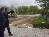 Ladik'de yollar yapılııyor