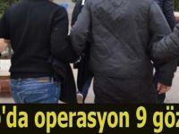 Sinop'da operasyon 9 gözaltı