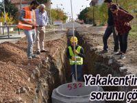 Yakakent'in alt yapı sorunu çözülüyor