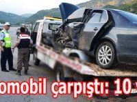 Boyabat'da feci kaza 10 yaralı