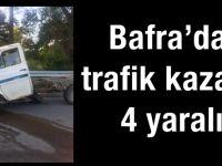 Bafra'da trafik kazası 4 yaralı