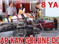 Havzada kaza 8 yaralı