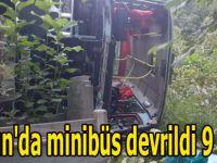 Samsun'da minibüs devrildi 9 yaralı