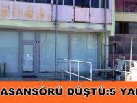 Tekkeköy'de yük asansörü düştü 5 yaralı