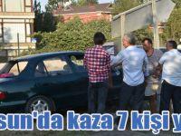 Samsun'da kaza 7 kişi yaralı