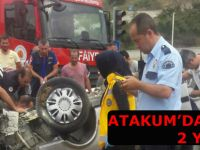 Atakum'da kaza; 2 yaralı
