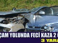 Alaçam yolu üzerinde feci kaza:2 ölü
