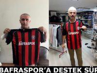 Genç Bafraspor'a esnaf ve vatandaşın desteği sürüyor...