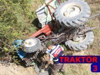 Traktör devrildi; 3 yaralı