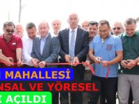 Alaçam'da Kızlan Mahallesi Hayvansal ve Yöresel Ürünler Pazarı açıldı