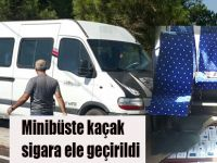 Minibüste kaçak sigara ele geçirildi