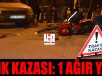 Bafra'da Trafik Kazası: 1 Ağır Yaralı