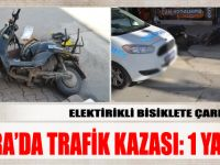 Bafra'da Elektrikli bisiklete çarpan sürücü kaçtı