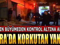 Bafra'da Korkutan Yangın
