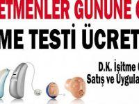 24 Kasım Öğretmenler gününe özel İşitme testi ücretsiz