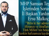 Samsun İl Başkan Yardımcısı Ersu Malkoç'un Basın Açıklaması