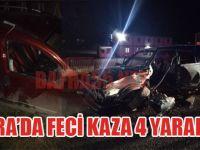 Bafra'da Feci Kaza 4 Yaralı