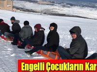 Ladik'de Engelli Çocukların Kar Keyfi