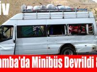 Çarşamba'da Minibüs Devrildi 8 Yaralı
