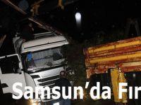 Samsun'da Şiddetli Rüzgar
