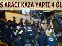Karabük'te Servis Kontrolden Çıktı 4 Ölü