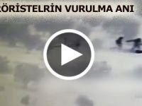 AFRİN'DE TERÖRİSTLERİN VURULMA ANI
