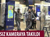 HIRSIZ KAMERAYA TAKILDI